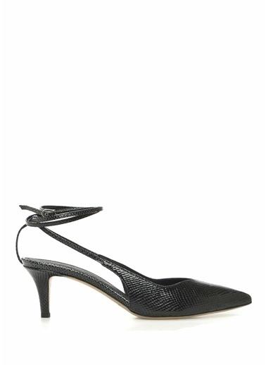 Etoile Isabel Marant Isabel Marant  Dokulu Deri Topuklu Ayakkabı 101550651 Siyah
